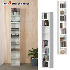8 Fächer Bücherregal Regalsystem Standregal CD Regal Büroregal Holz Wandregal
