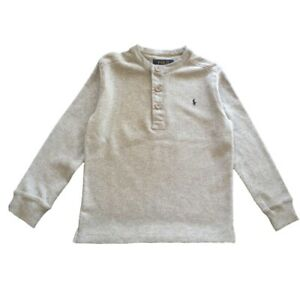 Boys Ex Ralph Lauren waffle knit long sleeved top 3 button henley age 4  years