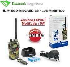 RICETRASMITTENTE MIDLAND G9 LPD PMR 466 EXPORT 5 W MIMETICO CACCIA BIBANDA