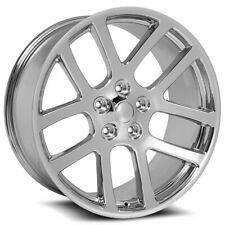 "4-Replica 107 SRT10 24x10 5x5.5"" +25mm Chrome Wheels Rims 24"" Inch"