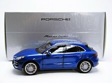 Minichamps Porsche Macan Turbo Blue Metallic Dealer Edition 1/18 New! In Stock!