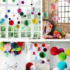10 Colors HONEYCOMB BALLS WEDDING PARTY PAPER Xmas DECORATIONS SD