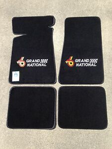 1985-87 Buick Grand National Floor Mat Set Turbo 6 In Red and Yellow