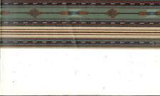 Southwest Design in Blues, Greens, Maroon Wallpaper Border