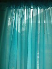 "Turquoise wedding decoration drapes sheer 6 to 12 ft x 114"". backdrop"