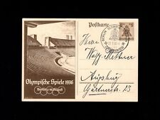 Germany Postal Card 1936 Berlin Limited Special Olympic Stadium Games Cancel 4k