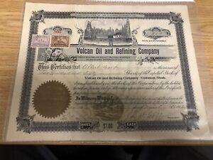 Arizona Territory 1902 oil company stock certificate
