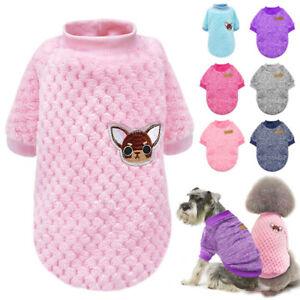 Cute Dog Knitted Sweater Chihuahua Clothes Soft Warm Jumper for Small Dogs Pink