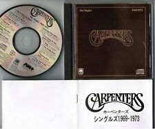 CARPENTERS The Singles 1969-73 JAPAN CD 1985 issue 32XB-39 w/16p BOOKLET Alfa