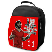Mo Salah Lunch Bag Liverpool Insulated Boys School Childrens Kids Lunchbox