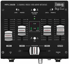 IMG Stage Line MPX 20 USB 3-channel Stereo DJ Mixer