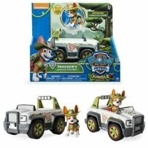 PAW PATROL TRACKER'S JUNGLE CRUISER ACTION FIGURE VEHICLE PUP KID PLAY TOY GIFT