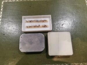 Three VINTAGE FLY BOXES