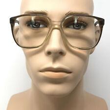 Vintage Mens Robert Eyeglasses Grey Square Prescription Glasses Frame Retro