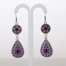 Fashion Vintage Enamel Colorful Drop Dangle Earrings Costume Jewelry Gifts Blue
