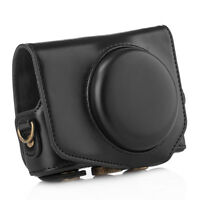 New PU Leather DSLR Camera Protective Case Bag Cover for Canon G7X Mark II Black