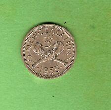 1955  NEW ZEALAND  THREEPENCE COIN