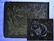 "Tri Chem Raccoon Velvet Picture u Paint 20X16"" Artex 2126 Liquid Embroidery"
