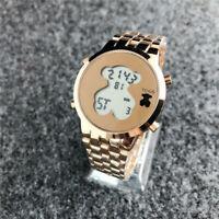 Luxury Bear Watch Stainless Steel Quartz Woman & Men's Casual Watch Gift