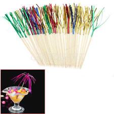 40X Cocktail Sticks Drink Fruit Canapes Decor Picks Ornament Bar Accessories New