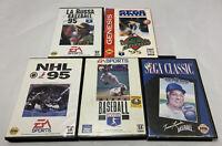Sega Genesis 5 Game Sports Lot. Untested