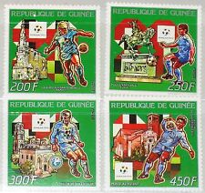 GUINEA 1990 1280-83 1130-33 Soccer World Cup Fußball WM Football Statue MNH
