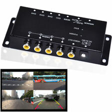 Combiner Car 4 Cameras Switch Control Box For Car Side Front Rear Parking Camera