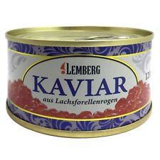 120g ( 100g /4,99€) Forellenkaviar Lachsforelle Forelle Kaviar Dose Aquakultur