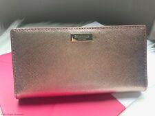 Kate Spade Laurel Way Leather Stacy Wallet Wlru2673 Rosegold