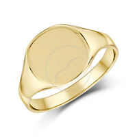 Ladies Signet Ring 9ct Yellow Gold Cushion Shaped