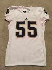 2013 ADIDAS NOTRE DAME FOOTBALL GAME USED AWAY JERSEY #55 TONS OF GREAT USE!!!!
