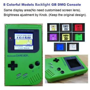 Green Refurbished 8 Color Palettle RIPS Backlight Nintendo Game Boy DMG Console