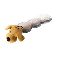 House of Paws Mixed Textured Plush Dog Toy | Dog Face Squeaky Cuddly Animal