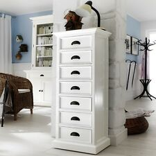 Halifax White Tallboy Chest of 7 Drawers