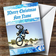 Bmx Bike Personalised Christmas Greetings Card