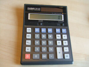 Vintage Casio DS-20E Electronic Calculator 12-Digit - Solar Powered