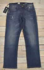 ROCK & REPUBLIC Rebel Straight Distressed Dark Wash Blue Jeans Size 30x30 $88