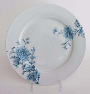 """SPODE Home Vintage Denim 10.5"""" Dinner PLATE - Set of 5 NEW Blue Flowers on White"""
