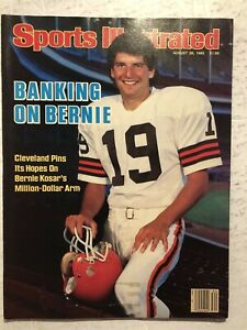 1985 Sports Illustrated CLEVELAND BROWNS Bernie KOSAR No Label BANKING ON BERNIE