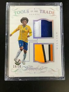 2016 Panini Flawless Tools of the Trade Patch Brazil Willian 19/20 Jersey 1/1