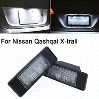 2x Rear LED License Number Plate Lights Lamp Blubs For NISSAN PATHFINDER R51