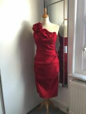 Red satin one shoulder cocktail dress sz 12 - BNWT