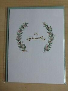 Papyrus ELEGANT GREENERY SYMPATHY GREETING CARD