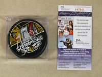 JONATHAN TOEWS AUTOGRAPHED-SIGNED 2013 STANLEY CUP CHAMPIONS PUCK  JSA/COA