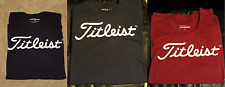Titleist T-shirt LOT 3 LARGE Black, Red, Blue New (golf scotty rare cameron)