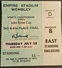More details for portugal v russia match ticket 3/4 place final 28th july 1966 wembley stadium.