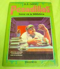 LIBRO PESADILLAS Nº9 TERROR EN LA BIBLIOTECA - R.L. STINE EDICIONES B 1996 USADO