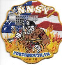 "*NEW*  Newport News Shipyard, Portsmouth, Virginia  (5"" x 5"" size) fire patch"