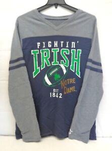 Notre Dame Fighting Irish Men's L Starter Long Sleeve V-NEck Sweatshirt
