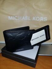 Michael Kors Men's Camden Billfold Black Leather Wallet with Card Case